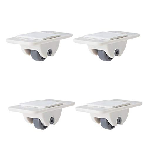 armadietti e cassetti ruote unidirezionali per mobili Yunobi 4 ruote adesive in plastica per carrucola e pattumiere