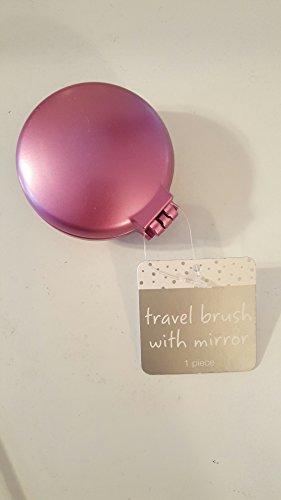 Travel Folding Hair Brush Mirror Pocket Purse Car Camping Compact 2.5