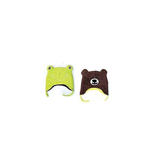 Flap Jack Kids FlapJackKids - Kids' Winter Hat - Frog/Bear 6 Mos - 3 (Jack Frog)