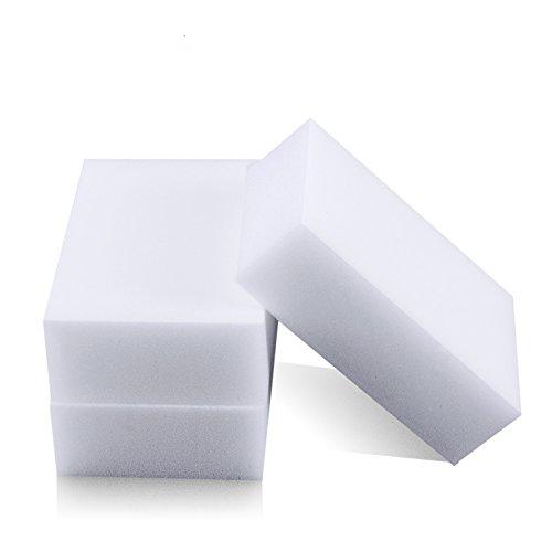 UIYTR 50PCS Melamine Sponge Magic Sponge Eraser Melamine Cleaner Eco-Friendly White Kitchen Magic Eraser