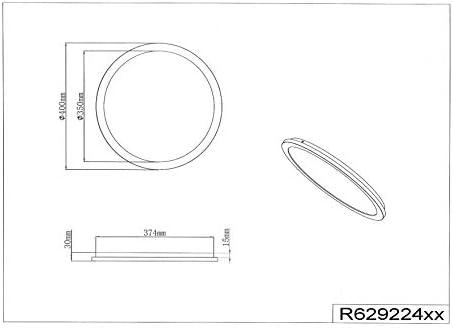 Reality Leuchten Camillus R62922401 LED Deckenleuchte, Acryl Weiß, 24 Watt
