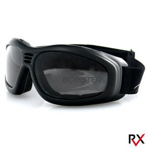 Touring 2 Goggle - Bobster Touring II Motorcycle Goggles Smoke