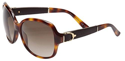 Gucci Women's GG 3638/S Tortoise Brown Gradient Oversized Stirrup Sunglasses