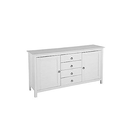 Amazoncom Mid Century Modern White Wooden Dresser Chest With 4