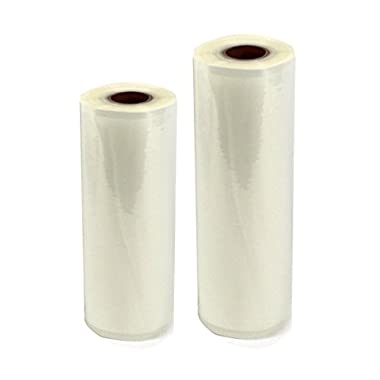 Commercial Bargains 2 Pack 11  x 50' and 8  x 50' Commercial Vacuum Sealer Saver Rolls Food Storage