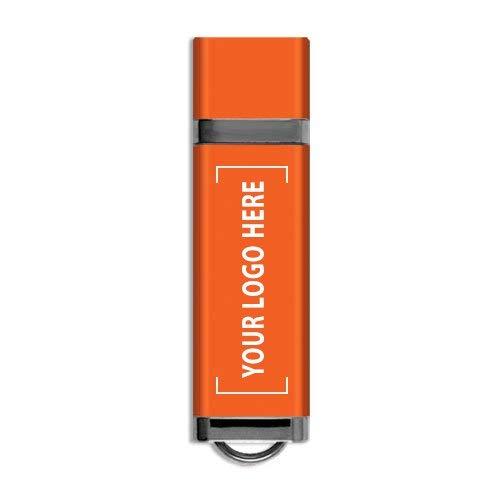カスタムクラシックUSBフラッシュドライブ - 100個 - $46.14/EA - ロゴ/バルク/卸売でプロモーション製品 256GB B0755D48NS オレンジ 128MB 128MB|オレンジ