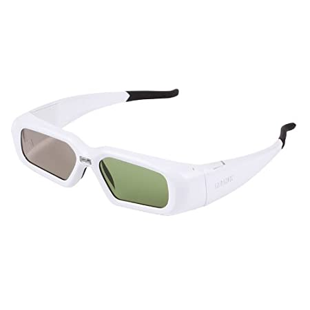 790b7ec09f SainSonic SSZ 200DLW 3D Active Rechargeable Shutter Glasses for DLP Link  Projector White available at Amazon