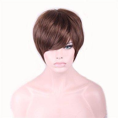 SOUMAOG DFGM Brown Short Perucas Pelucas Wig For Black Women Sex Products Synthetic Hair Wigs Perruque