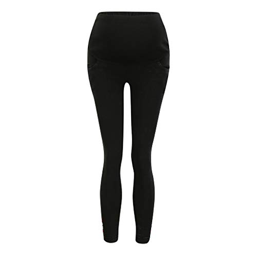Cegduyi Belly Straight Jeans, Women's Maternity Jeans Over The Belly Super Soft Support Maternity Leggings