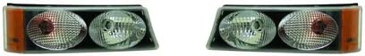 For Chevrolet Silverdo 2003-2006 Parking Signal Twin Eyes Black Pair Driver and Passenger Side