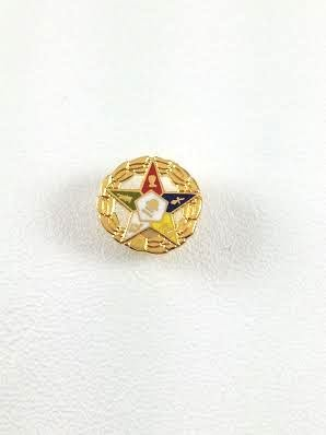 D605 Masonic Order of the Eastern Star Lapel Pin with Wreath