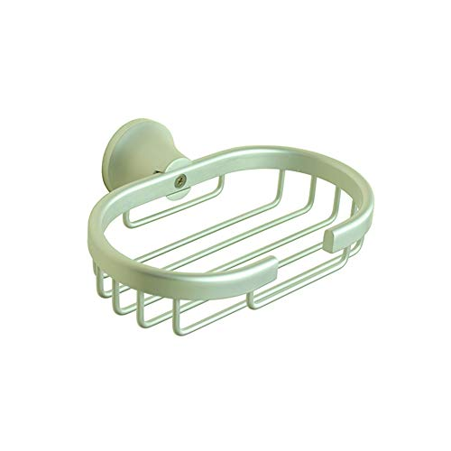 (ZH Shower Caddies Wall Mounted Soap Dish Holder with Drain, Soap Basket Dispensers, Soap Sponge Holder for Shower, Bathroom, Tub and Kitchen Sink - Rust Proof Space Aluminum)