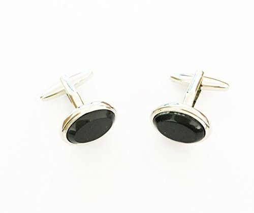 Ellipse Links - A Pair SPECIAL Designs Ellipse Cufflink Cuff Link Men's Wedding Stainless Steel Square Grid Jewelry