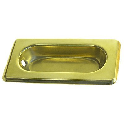 (WS-21LB Lacquered Brass Recessed Sash Window Lift - Antique Cabinet, Vintage Cupboard, Old Desk Reproduction Restoration Hardware + Free Bonus (Skeleton Key Badge) (1))