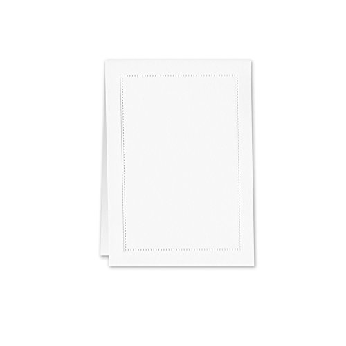 William Arthur Blind Embossed White Beaded Border Table Card (B107037) Blind Embossed