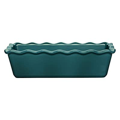 "Emile Henry 116164 Made In France Ruffled Loaf Pan, 9"" by 5"" by 3"", Flour White"