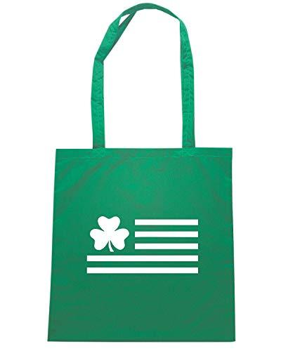 FLAG Speed Borsa IRISH SHAMROCK TIR0108 Shopper Verde Shirt 66xOqA