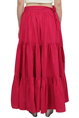 Wrap Vtements Crimson De Coton Rose Hirarchis Solide Jupe Crinkle Dames Loisirs Bimba zSdBqq