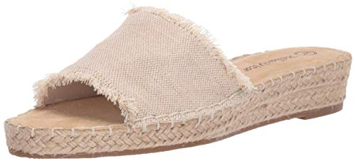 Bella Vita Women's Cher II Espadrille Sandal Shoe, Natural Fabric, 8 M -