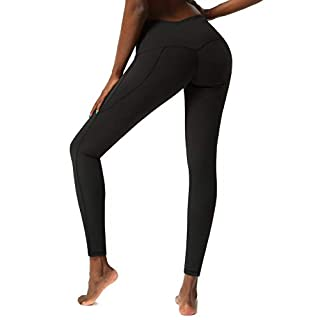 SKYSPER Yoga Pants with Pockets for Women High Waisted Womens Workout Leggings with Pocket
