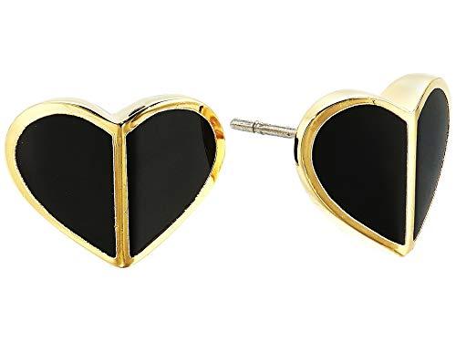 Kate Spade New York Women's Heritage Spade Heart Stud Earrings, Black, One Size