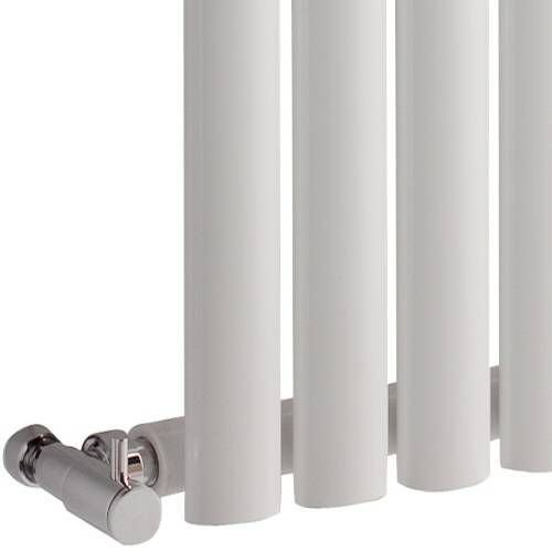 Hudson Reed NAHB0022 - Luxury White Horizontal Designer Radiator Heater With Free Angled Valves - Mild Steel - 25'' x 46.25'' - 1199 Watts - Compact Hydronic Warmer - Cast Iron Style by Hudson Reed (Image #2)