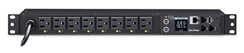(CyberPower PDU41001 Switched PDU, 120V/15A, 8 Outlets, 1U Rackmount)