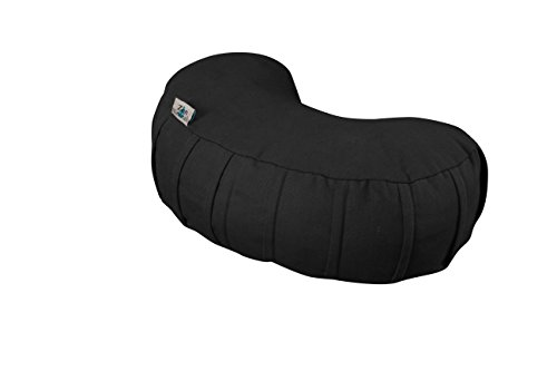 Zen Naturals Crescent Meditation Pillow. Supportive Meditation Cushion. Great Yoga Pillow For Headstand Poses. Try us For Your Meditation Mat, Floor Pillow and Yoga Equipment. Stop Achy Joints.