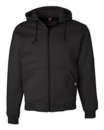 Dri Duck Adult Crossfire Thermal Lined Fleece Jacket, Style #7033, 3XL, Black