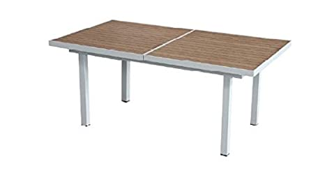 Tavoli Allungabili In Alluminio.Tavolo Allungabile In Alluminio E Resin Wood Tavolo Per