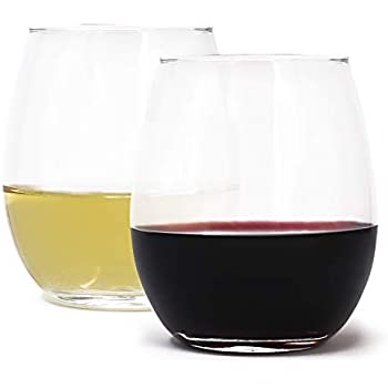 Whiskey /& Best Home Bar Decor Gifts 15 oz Newton Liquor Fun Party Entertainment Dining Beverage Cups for Water Circleware 44581 Stemless Wine Glasses 4-Piece Drinking Glassware Set Juice Beer