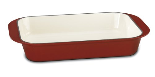 Cuisinart CI1136-24CR Chef's Classic Enameled Cast Iron 14-Inch Roasting/Lasagna Pan, Cardinal Red by Cuisinart