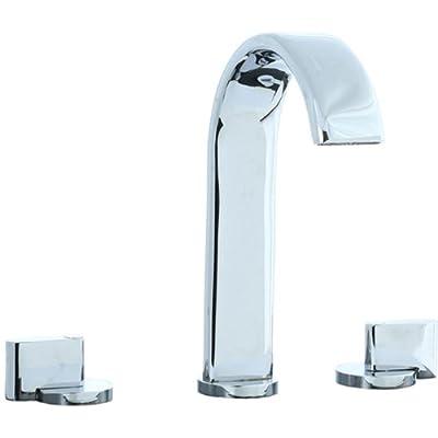 Cifial 231.150.625 M3 Widespread Hi-Arc Bathroom Sink Faucet with Clic-Clac Drain, Polished Chrome