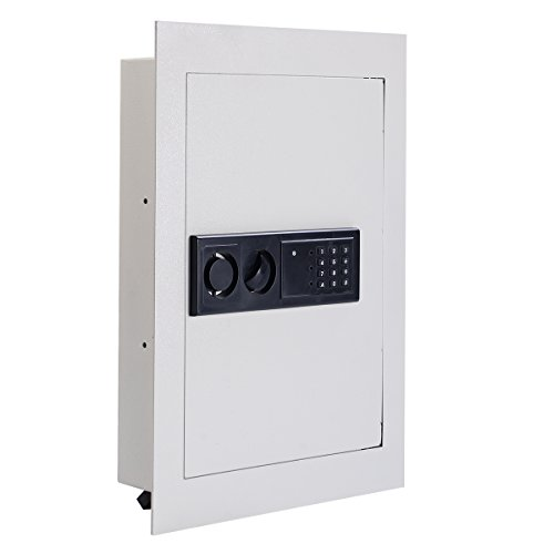 Giantex Electronic Wall Hidden Safe Security Box,.83 CF Built-In Wall Electronic Flat Security Safety Cabinet (Recessed Wall Cabinets)