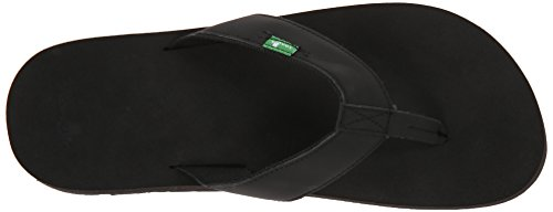 Sanuk Mens Longitude Flip Flop Blackout