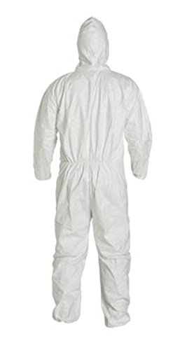 LG Tyvek Coverall W/ Hood, Zipper, Elastic Wrist & Ankle (LG-25 Suits / 1 Case) TY122S WH - LTY127S WH-LG-25-CASE by Tyvek (Image #3)
