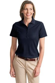 Port Authority Women's Ezcotton Pique Polo-Navy-2X