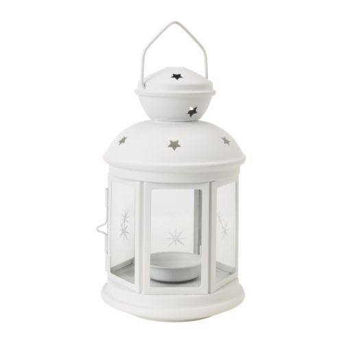 IKEA - ROTERA Lantern For Tealight, White 101.229.87