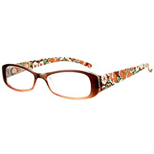 Orchard Fashion Reading Glasses with Floral Design for Youthful, Stylish Women (Bronze +2.50)