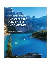 Insight into Canadian Income Tax 2017-2018
