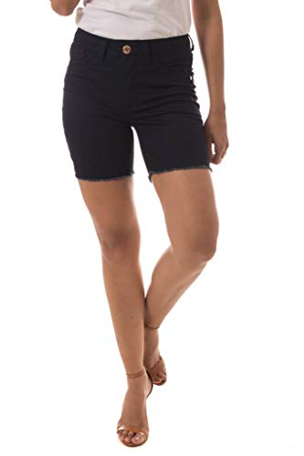 Shorts Jeans Denuncia Mid Rise Middle Azul 40