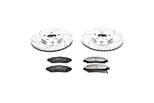 Power Stop K5370 Front Z23 Evolution Brake Kit with Drilled/Slotted Rotors and