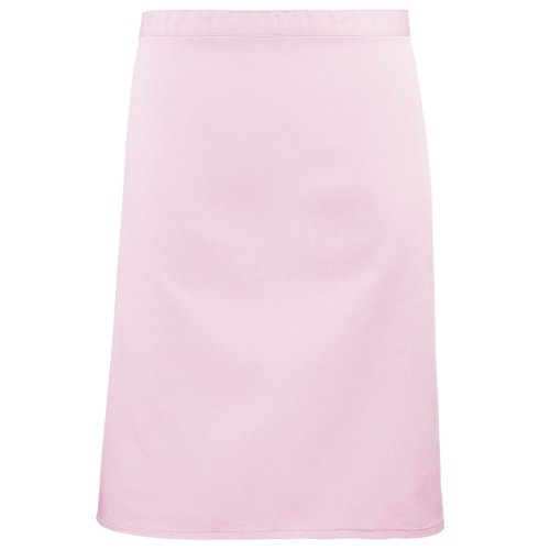 Premier Ladies/Womens Mid-Length Apron (One Size) (Pink)