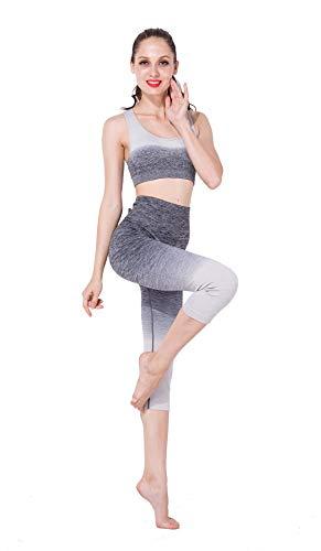 Chaleco Choques Deportiva Secado Delgado Cadera Cintura Rápido Alta Mujeres Prueba A Traje De Fitness gray Yoga Ropa Xsqr Body Gradiente Fitness Shaping aq78gO