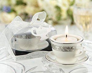 Teacups and Tealights Miniature Porcelain Tealight Holders - (set of 25)