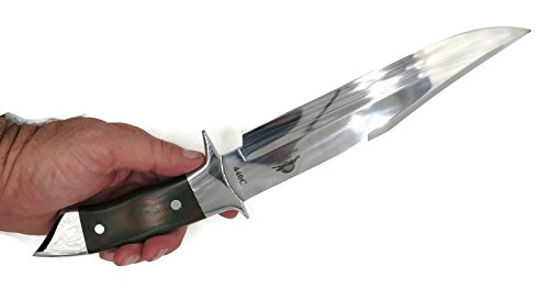 DKC Knives DKC-UL-123-G Crucible Bowie Fixed Blade Hunting Knife Custom Hand Made 440c Steel 15