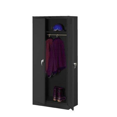 Deluxe 78''H x 36''W x 24''D 2 Door Storage Cabinet Color: Black, Doors: Standard