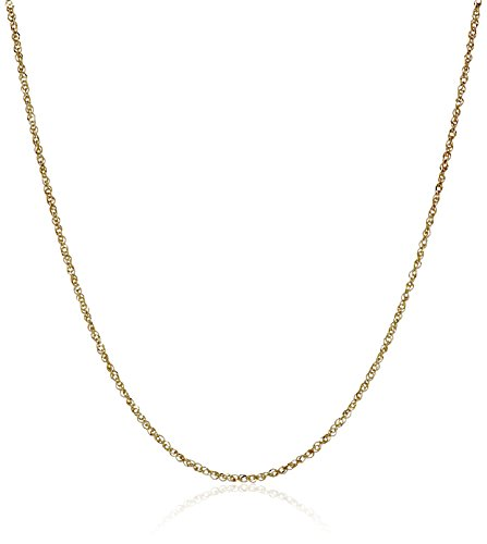 14k Solid Gold Perfectina Chain Necklace (1.0mm)