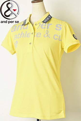 [アンパスィ] 半袖ポロシャツ トップス レディース ゴルフ M イエロー(70) B07Q6BD3BV