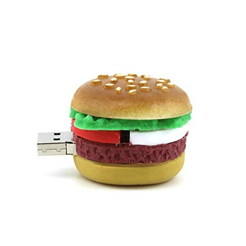 TOP SKY 16GB USB 2.0 Flash Drive Thumb Drive Memory Hamburger Shape USB Flash Memory Stick USB Memory Storage Pen Drive for iOS Android PC
